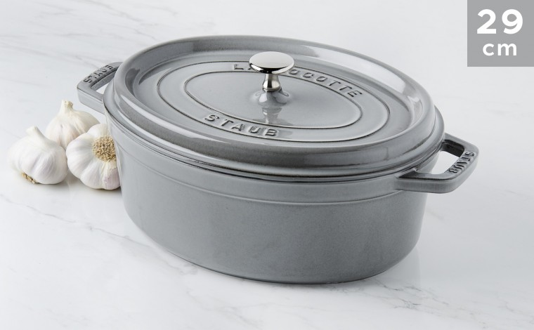 Cocotte Staub Oval Graphite Grey 29 cm