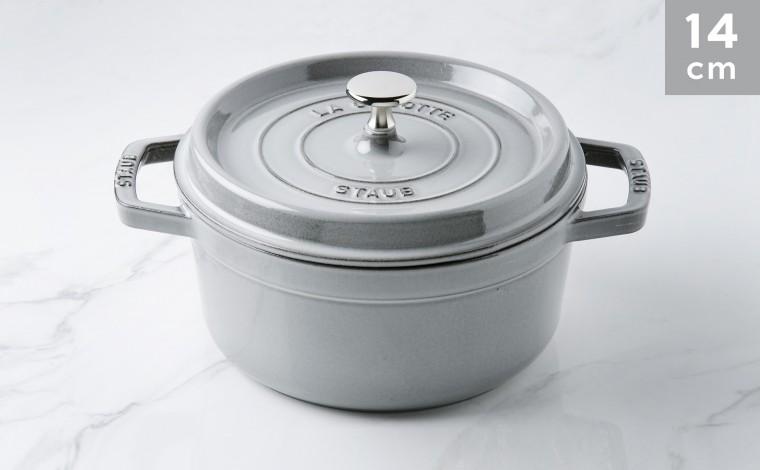 Cocotte Staub Round graphite grey 14 cm