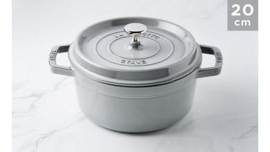 Cocotte Staub Grey round graphite 20 cm