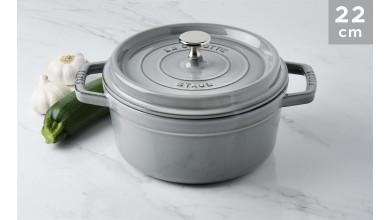 Cocotte Staub Round graphite grey 22 cm