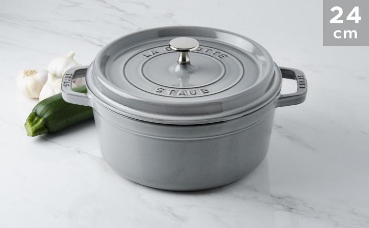 Cocotte Staub Round graphite grey 24 cm