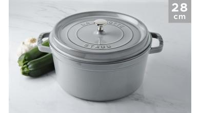 Cocotte Staub Round graphite grey 28 cm