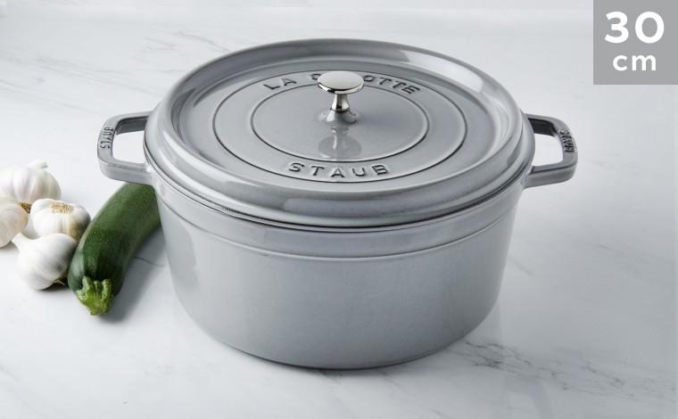 Cocotte Staub Round graphite grey 30 cm