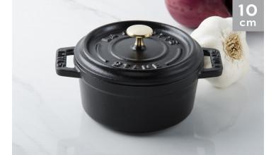Cocotte black cast iron 10 cm