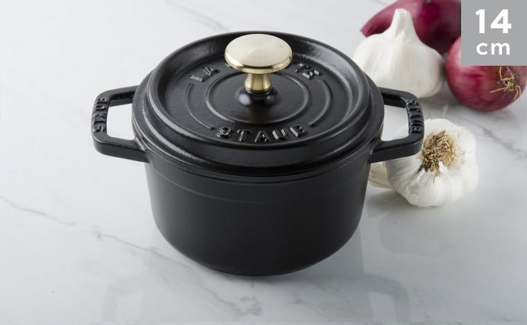 Cocotte black cast iron 14 cm