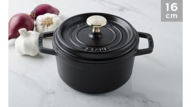 Cocotte black cast iron 16 cm