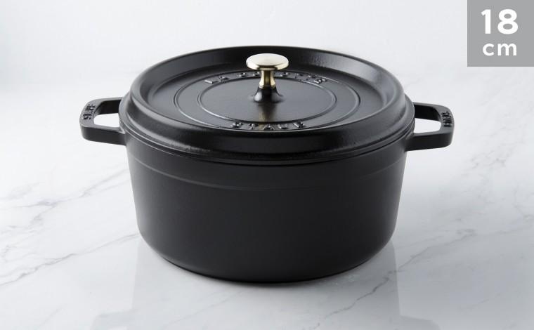 Cocotte black cast iron 18 cm