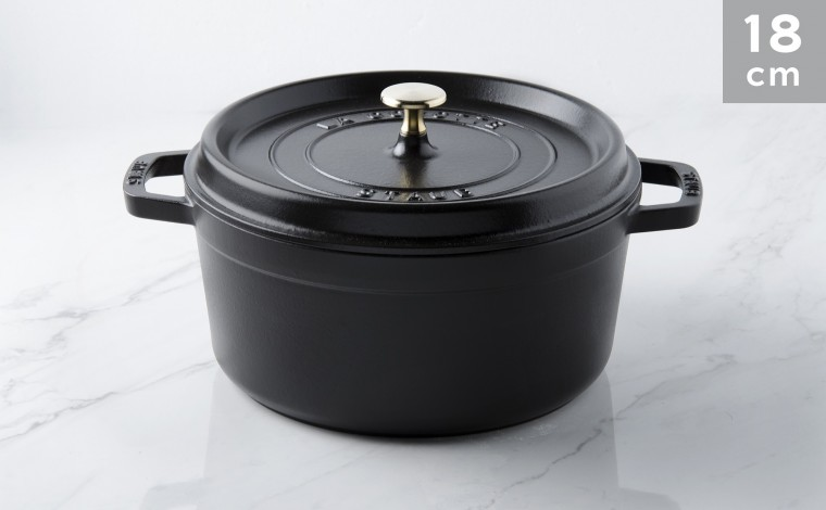 Cocotte fonte noire 18 cm