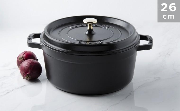 Cocotte black cast iron 26 cm
