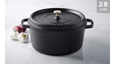 Cocotte black cast iron 28 cm