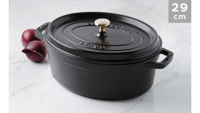 Cocotte ovale fonte noire 29 cm