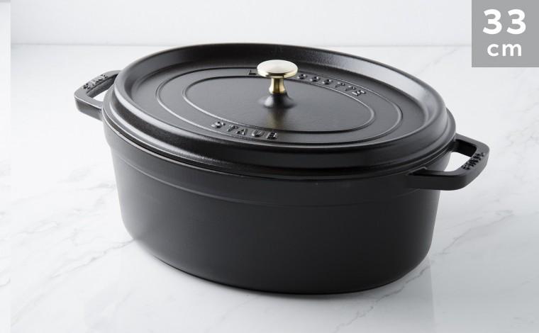 Cocotte ovale fonte noire 33 cm