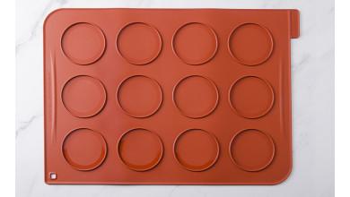 Toile de cuisson silicone 12 grands macarons