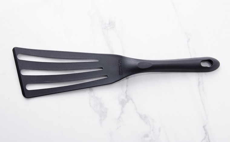 Exoglass open-ended spatula for non-stick