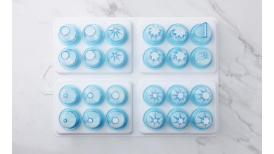 Box of 24 polycarbonate sockets choice of patissier