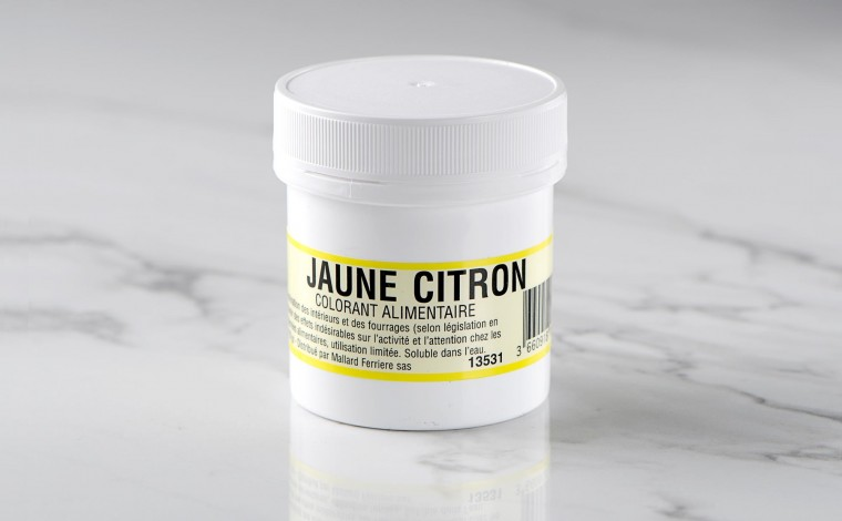 Colorant alimentaire en poudre Jaune Citron 20gr