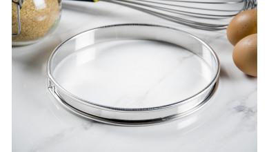 Cercle inox à tarte - Diamètre 18 cm