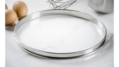 Cercle inox à tarte - Diamètre 26 cm
