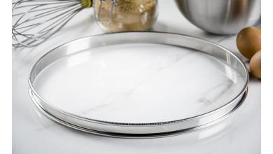 Cercle inox à tarte - Diamètre 30 cm