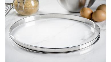 Cercle inox à tarte - Diamètre 32 cm