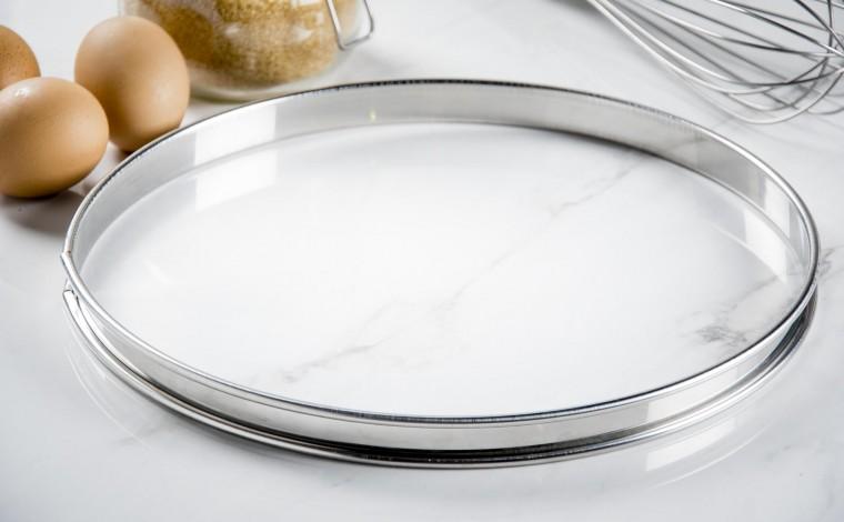 Stainless pie circle - Diameter 28 cm