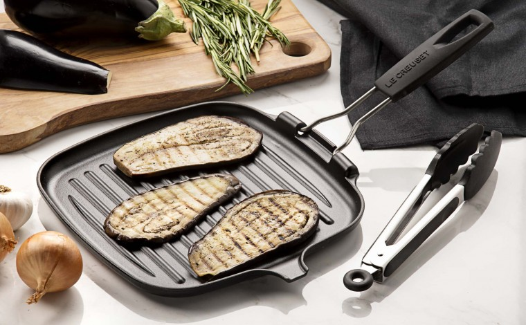 24 cm square grill with Le Creuset handle