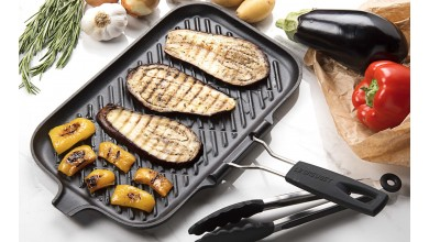 36x20cm rectangular grill with Le Creuset handle