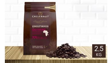 Chocolat noir Sao Thomé 70% pistoles 2,5 kg