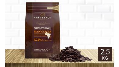 Chocolat noir Madagascar 67,4% pistoles 2,5 kg