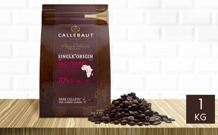 Chocolat noir Sao Thomé 70% pistoles 1 kg