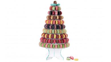 Pyramide macarons 10 plateaux amovibles