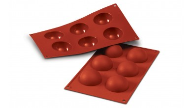 Silicone mould 6 half spheres - 6cm