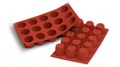Moule silicone 15 mini cannelés Bordelais