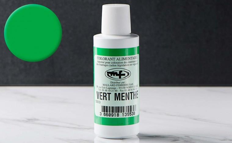 Colorant alimentaire liquide Vert Menthe 100ml