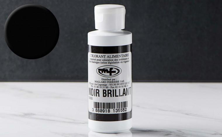 Colorant alimentaire liquide Noir Brillant 100ml