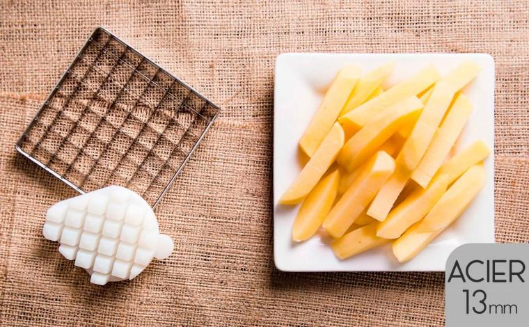 Kit couteau et poussoir (13x13 mm) pour coupe frites LT