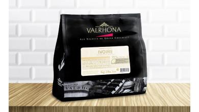"Chocolat Valrhona en fèves Blanc ""Ivoire"" 35%"