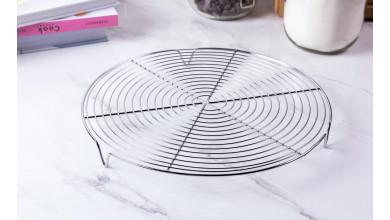 Grille ronde avec pied - Diamètre 28 cm