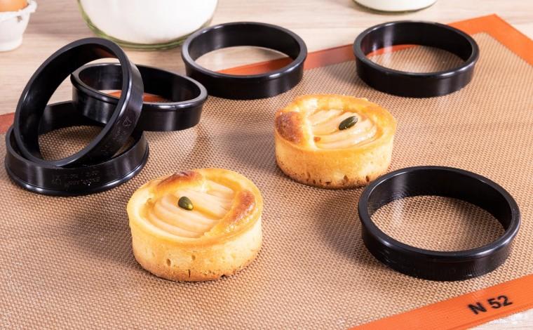 Cercles à tartes Exoglass (x6) - diamètre 6 cm