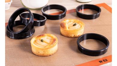 Cercles à tartes Exoglass (x6) - diamètre 10 cm
