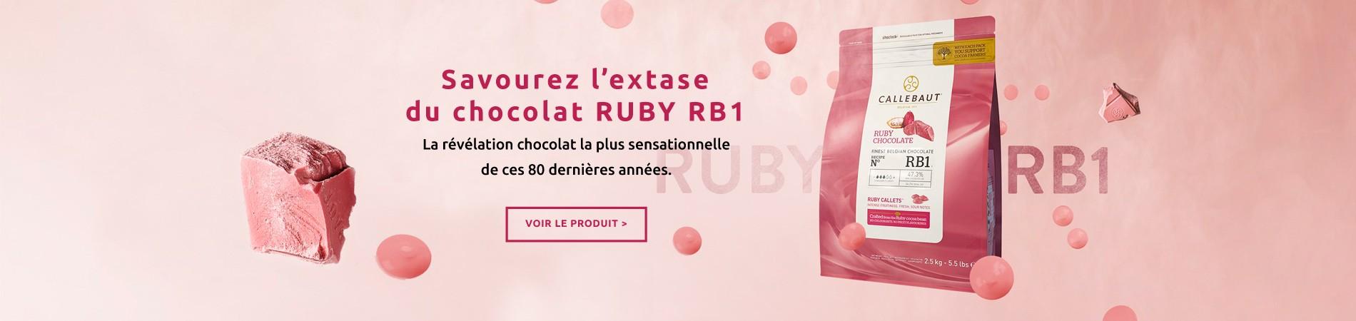 Chocolat Ruby Calllebaut